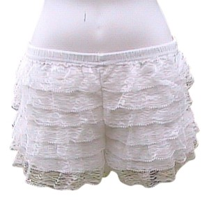 Other Lace Summer Lace Mini/Short Shorts White