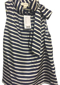 Anthropologie new with tags Portrait of a Girl size 4 Top Navy and white