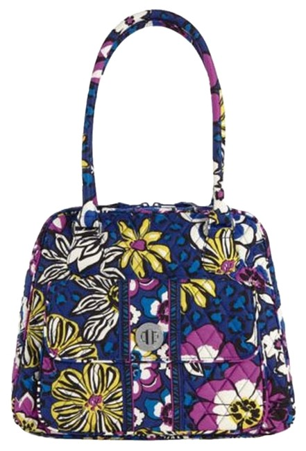 Item - African Violet Turn Lock Multi-color Cotton Satchel