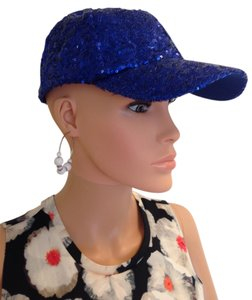 Lake Shore Drive Blue Sequin Baseball Cap