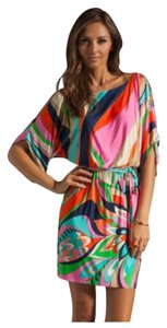 Trina Turk short dress Pink Orange Green Cream on Tradesy