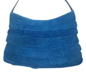 Mapleleaf Accessories Suede Peacock Vintage Ruffles Fossil Hobo Bag