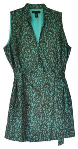 Valerie Stevens short dress Turquoise and Brown Wrap Tunic Sleeveless on Tradesy