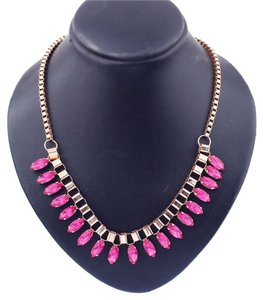 Other NEW Pink Jeweled Collar Bib Necklace