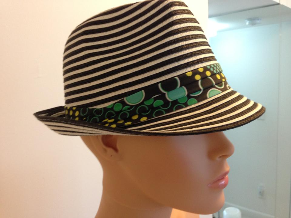 Icing Black and White Striped Hat - Tradesy 8b80220a71bc