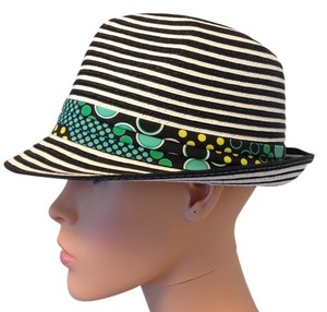Icing Black and White striped derby hat