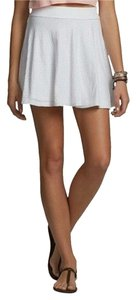 Hollister Abercrombie Fitch Skater Knit Mini Skirt White