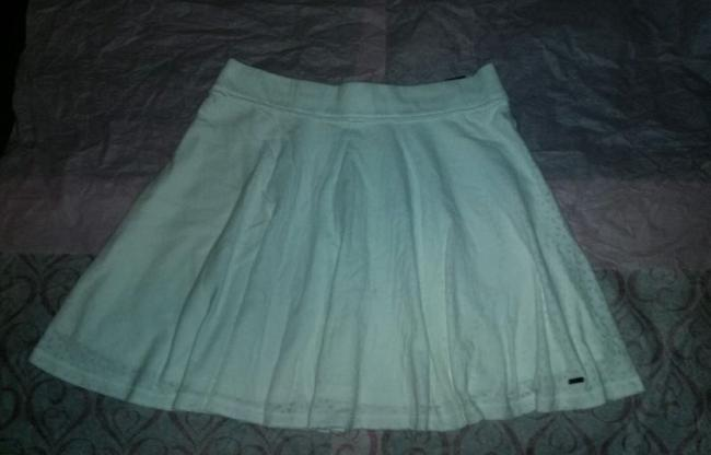Hollister Abercrombie Fitch Skater Knit Mini Mini Skirt White Image 2