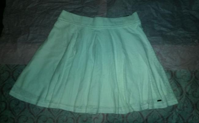 Hollister Abercrombie Fitch Skater Knit Mini Mini Skirt White Image 4