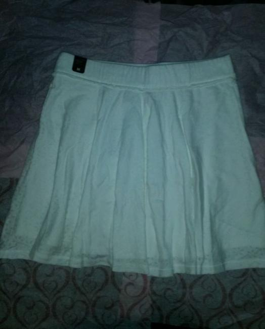 Hollister Abercrombie Fitch Skater Knit Mini Mini Skirt White Image 6