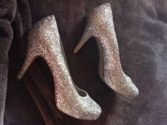 Madden Girl Silver Sparkle Bling Pumps Size US 8