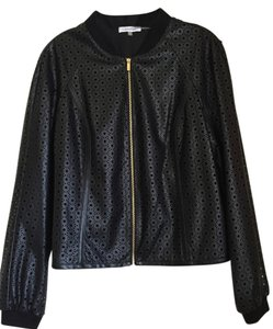 Calvin Klein Faux Leather Black Jacket