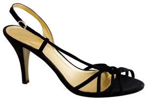J.Crew Strappy Suede Evening Rory Black Sandals