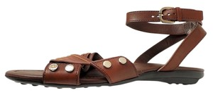 Tod's Ankle Strap Brown leather Sandals