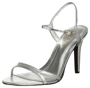 Ralph Lauren Summer Date Night Silver Metallic Sandals