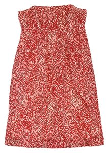 Shoshanna short dress Red Cream Paisley Print on Tradesy