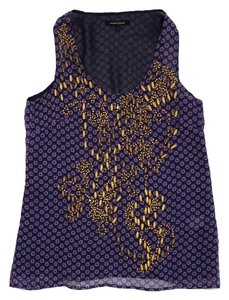 Nanette Lepore Purple Pink Front Beaded Top