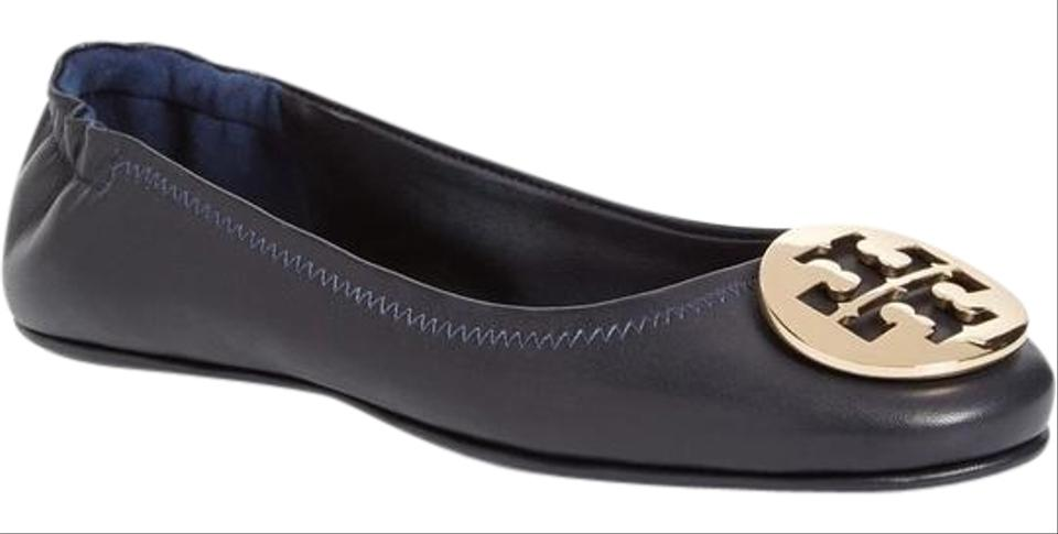 fb3693480ae5 Tory Burch Navy Perfect Minnie Travel Ballet Flats Size US 9 Regular ...