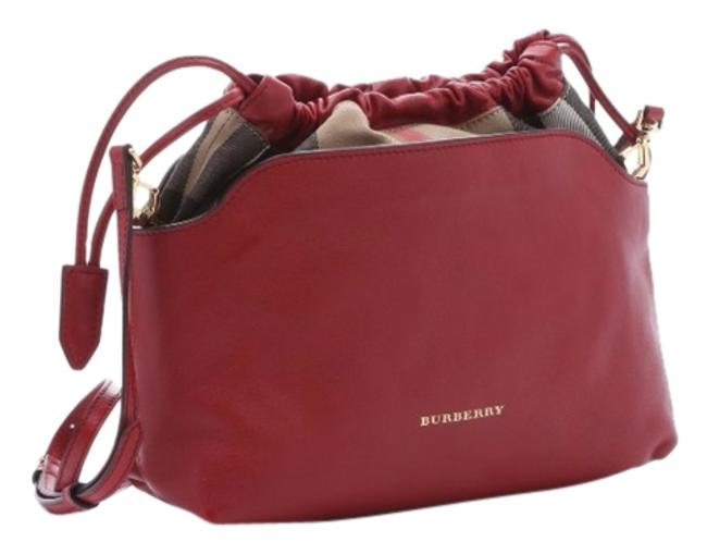 Item - Little Crush In and House Check Red Calf Leather Cross Body Bag