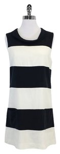 Rachel Zoe short dress White & Black Striped Cotton Shift on Tradesy