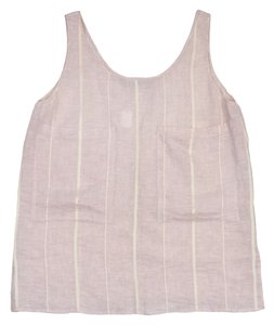 Stella McCartney Pink Ivory Striped Linen Top