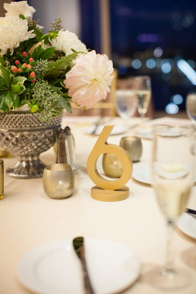 Gold 1 10 Art Deco Table Numbers Reception Decoration