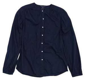 Marc Jacobs Black Cotton Button Up Long Sleeve Shirt Sweatshirt