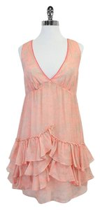 Elizabeth and James short dress Pink Print Silk Sleeveless on Tradesy