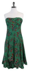 Nanette Lepore Green Print Silk Cotton Dress