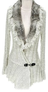 Alberto Makali Rabbit Fur Full Length Cardigan