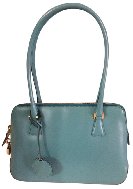 Salvatore Ferragamo Womans Shopper Hand Teal Leather Tote Salvatore Ferragamo Womans Shopper Hand Teal Leather Tote Image 1