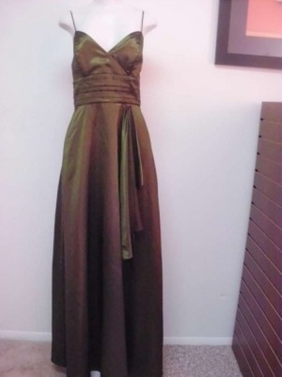 Alfred Angelo Citrine Taffeta 7186 Formal Bridesmaid/Mob Dress Size 12 (L)