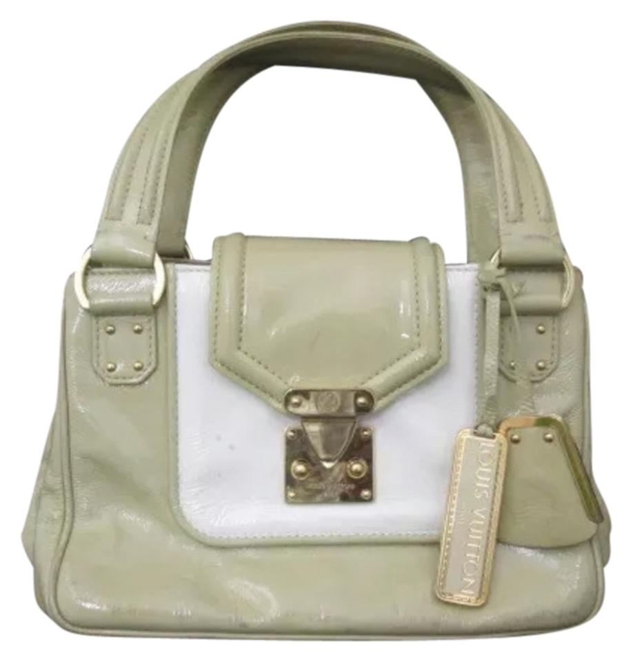 8dd862c209fc Louis Vuitton Cruise Sac Biccolore Beige White Gray Pattent Leather ...