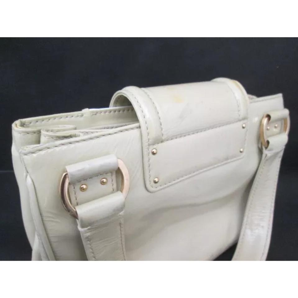 a67bc2c09612 Louis Vuitton Cruise Sac Biccolore Beige White Gray Pattent Leather Satchel  - Tradesy