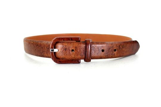 Holt Renfrew Holt Renfrew Woman Designer Brown Genuine Leather Belt Size XS/S