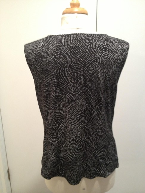 Talbots Shell Top Black and White