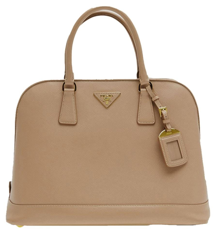 68f010be1517 Prada Promenade Saffiano Open Medium Nude Tan Leather Tote - Tradesy