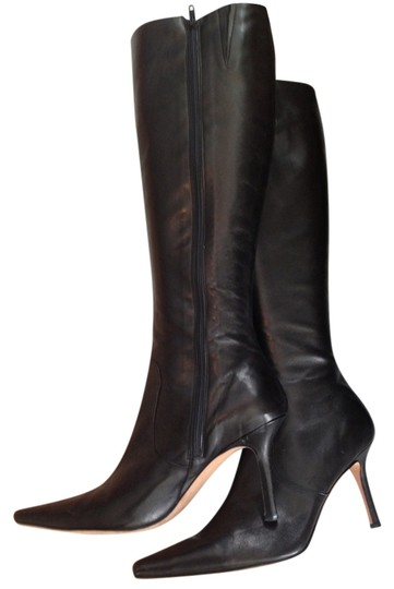 Preload https://img-static.tradesy.com/item/1482898/isaac-mizrahi-black-leather-bootsbooties-size-us-9-regular-m-b-0-0-540-540.jpg
