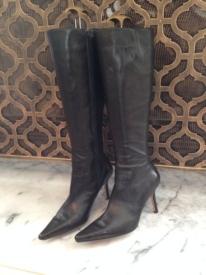 Isaac Mizrahi Leather Black Boots