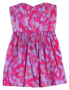 Rebecca Taylor short dress Pink Blue Orange Tie Dye on Tradesy