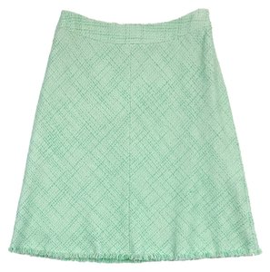 Elie Tahari Green Tweed Skirt