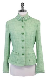 Elie Tahari Green Tweed Suit Suit Jacket