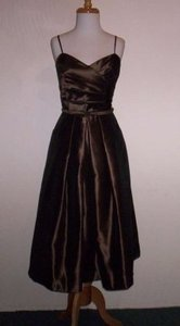 Alfred Angelo Latte Taffeta 7188 Formal Bridesmaid/Mob Dress Size 8 (M)