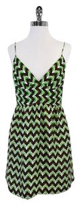 MILLY short dress White Brown Green Circle Print on Tradesy