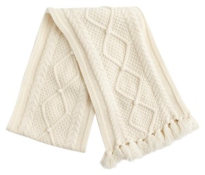 J.Crew J.,Crew,Ivory,Cable,Knit,Scarf