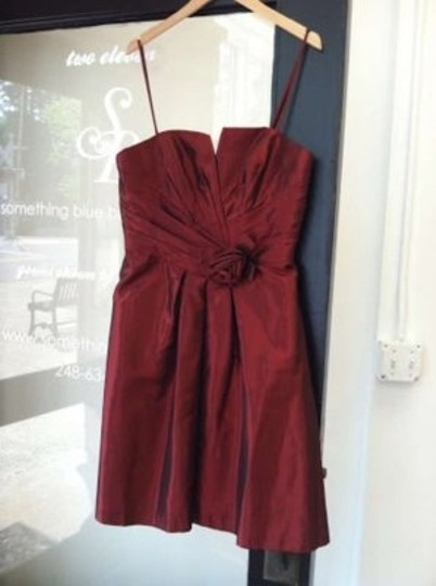 Alfred Angelo Cranberry Taffeta 7190 Formal Bridesmaid/Mob Dress Size 12 (L)