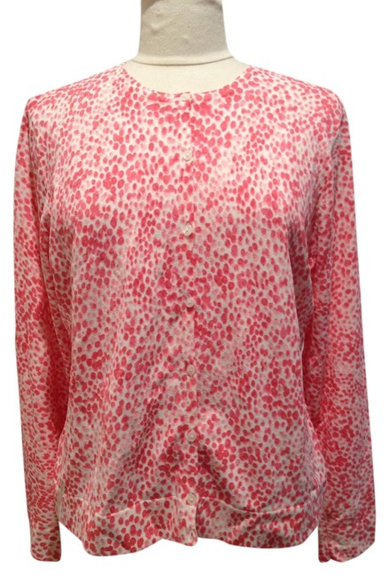 Preload https://item1.tradesy.com/images/talbots-white-and-pink-polka-large-cardigan-size-14-l-1482960-0-0.jpg?width=400&height=650