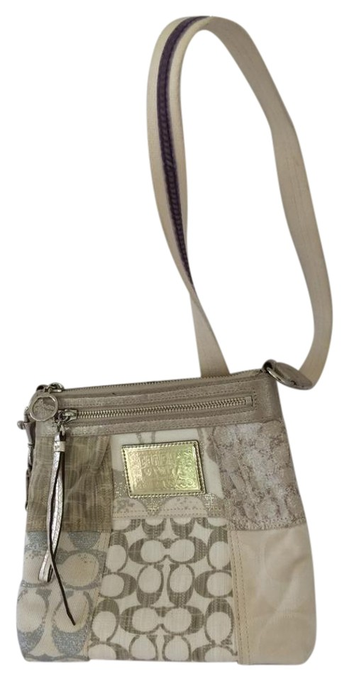 4c63ce3f6d Coach Purse Large Beige Denim Cross Body Bag - Tradesy