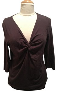 Talbots V-neck Top Chocolate Brown