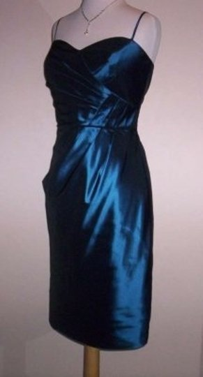 Alfred Angelo Blue Moon Taffeta 7191 Formal Bridesmaid/Mob Dress Size 14 (L)